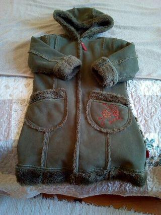 Abrigo verde pardo PAMPOLINA 5-6 años de niña
