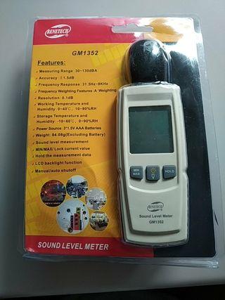 Sonómetro medidor de sonido/ruido (decibelios)