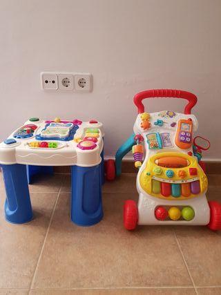 Corepasillos y mesa educativa bebe