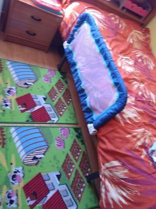 barrera camas caída niños