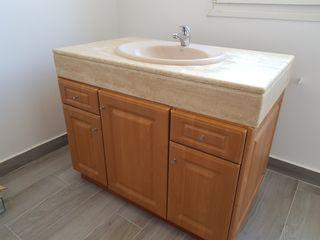 mueble de baño encimera de mármol