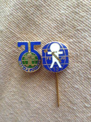 Pin + insignia Feju 1962 Feria del Juguete