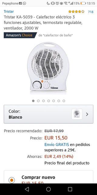 Calefactor Tristar