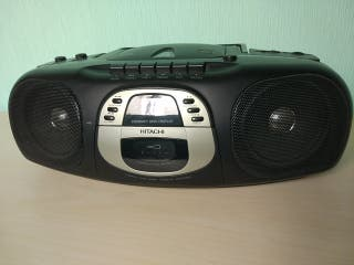 radiocasette con CD Hitachi