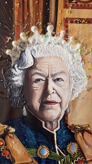Cuadro pintura sobre lienzo decoración retrato