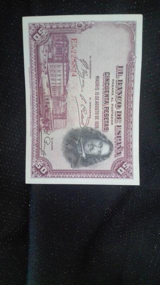 VENTA BILLETES 50 PESETAS 1928