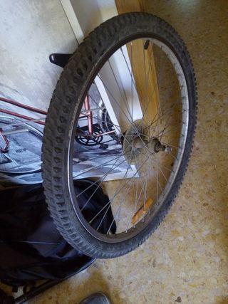 "Rueda Trasera bici 26"""