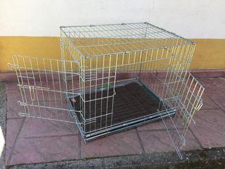 Caseta jaula plegable para perro