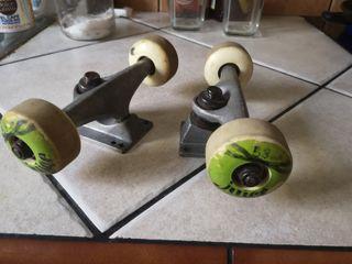 2 ejes de Skate con Ruedas