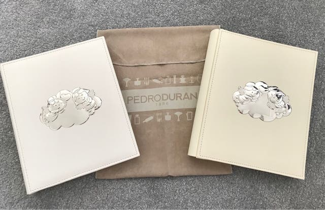 NEW Silver plated Baby Albums