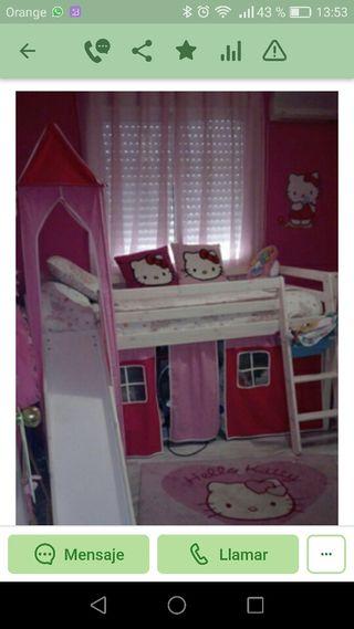 Cama infantil segun foto color rosa
