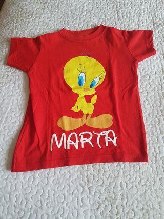 camiseta niña talla 2