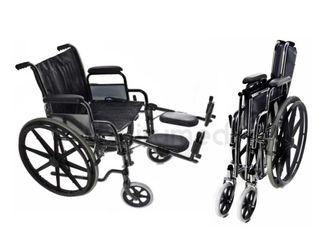 Silla de ruedas cromada - incluye elevadores piern
