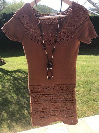 Vestido bohemio de crochet de TINTORETTO talla S