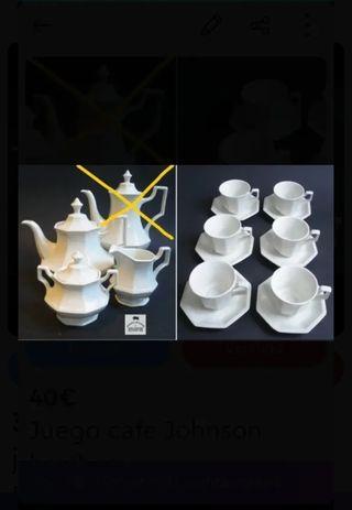 juego café nuevo Johnson Brothers porcelana
