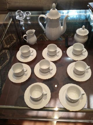juego de cafe de porcelana fina