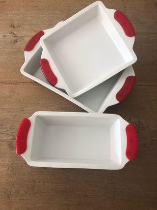 3 fuentes de cerámica para horno