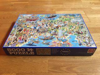 Puzzle 5000 piezas Europa 1992