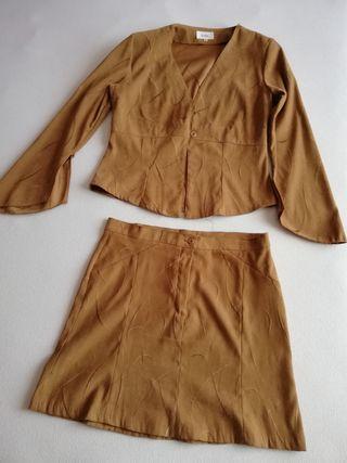 traje chaqueta y falda. talla 40