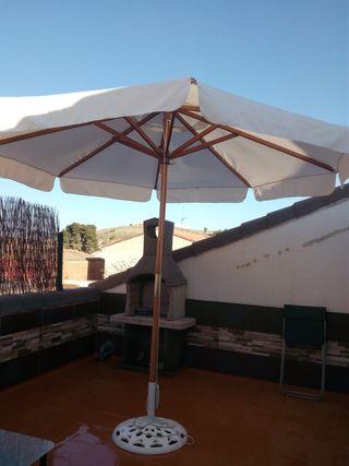 Sombrilla parasol de 3 metros y pie metalico