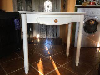 Mesa de madera maciza abatible