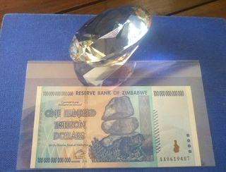 Billete 100 TRILLONES DE DOLARES Zimbabwe ZIM