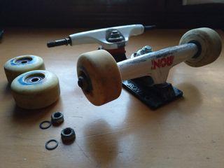 Ejes, ruedas, rodamientos skate