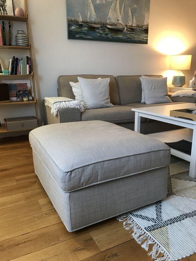 Sofa + stool ikea