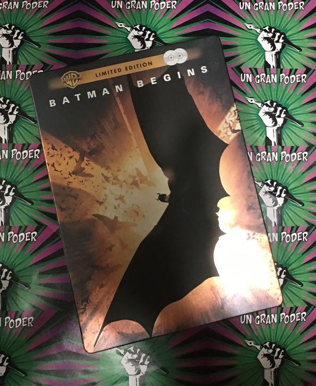 BATMAN BEGINS (EDICIÓN LIMITADA METÁLICA) 2 DVD