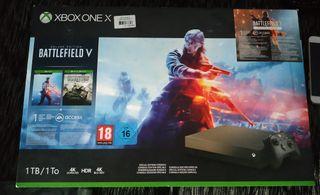 CONSOLA XBOX ONE X 1 tera + Xbox live 1 año