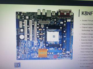 placa base asrock k8nf6g-vsta + amd Athlon 64 3400