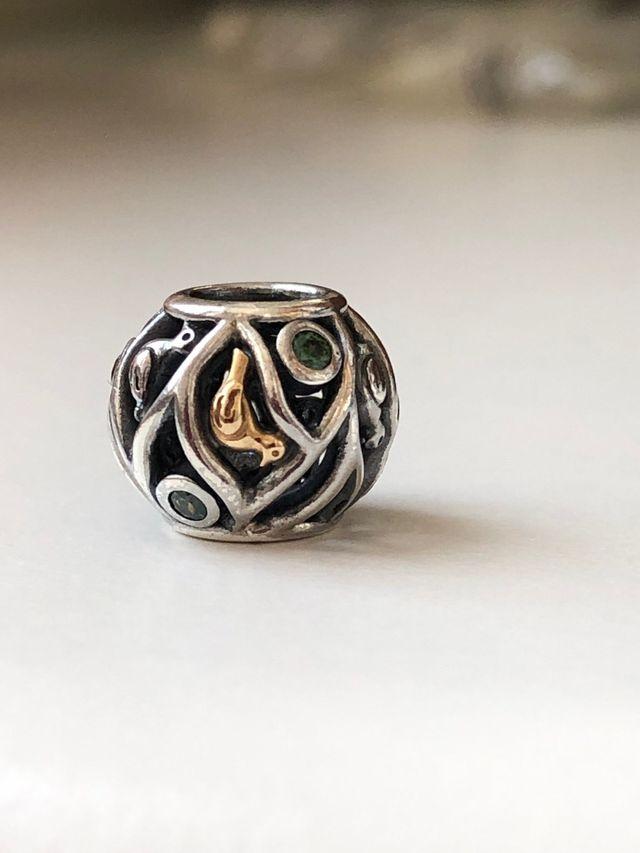 Pandora Original  Plata  Oro Y Circonitas  De Segunda Mano