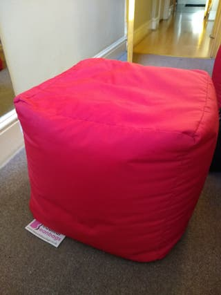 2 Footstool Cube Red