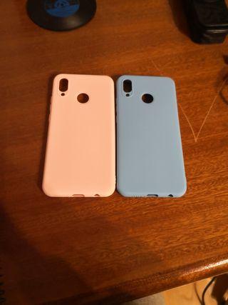 2 fundas silicona Huawei P20 lite