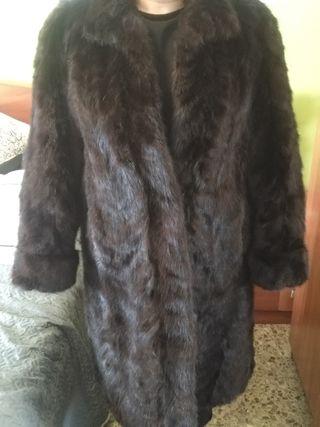abrigo de vison piel de lince