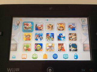 Wiiu Wii u con muchos juegos.