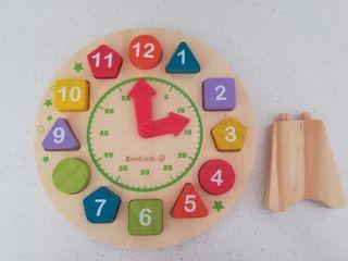 reloj puzzle madera