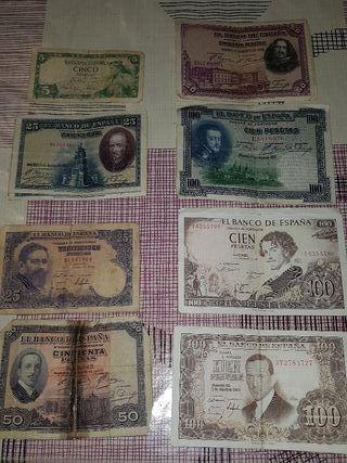 billetes antiguos españa