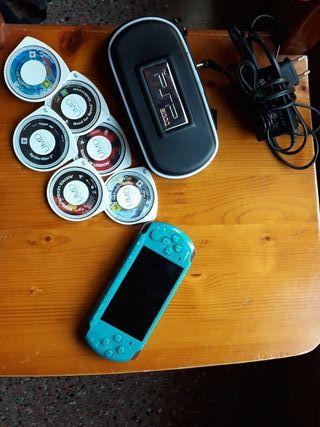 PSP con 6 juegos