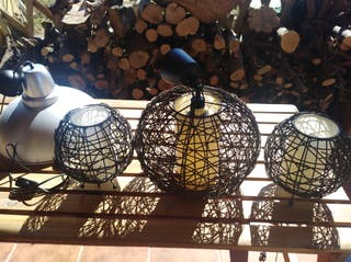 juego tres lámparas.. regalo lámpara de campana