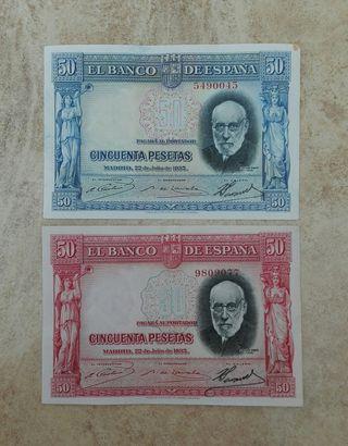 billetes antiguos (50 pesetas 1935)