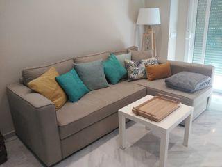 Sofá-cama chaiselongue con canapé
