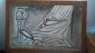 pintura sobre escayola