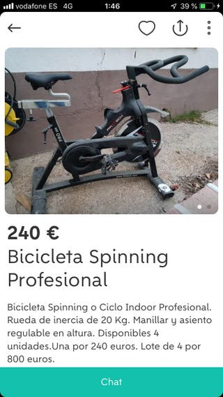 Se venden bicis spinning o ciclo indoor
