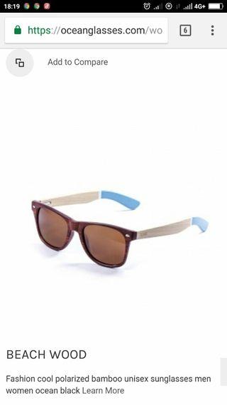 Ocean Beachwood Sunglasses Polarised browns lenses