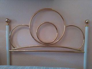 2 Cabeceros dorados 105cm