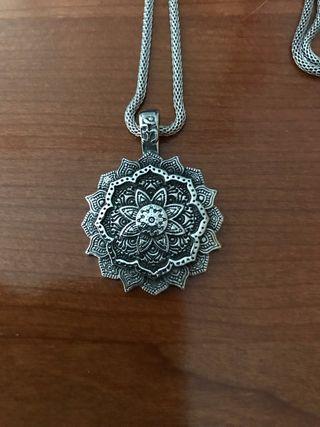 Colgante acero mándala flor de loto