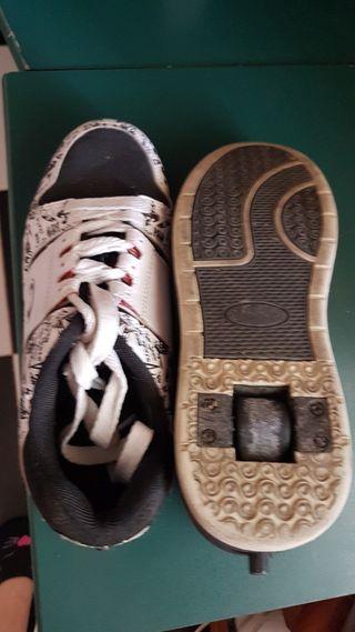 zapatillas con ruedas air team skate