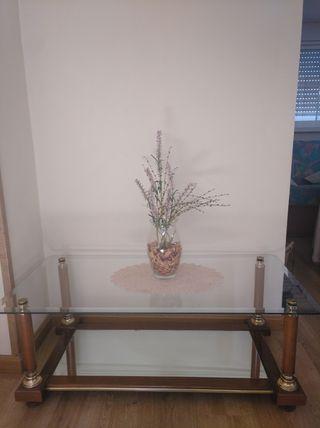 Mesa de cristal salón