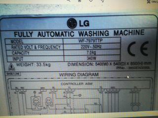 Rotor y plato, lavadora LG